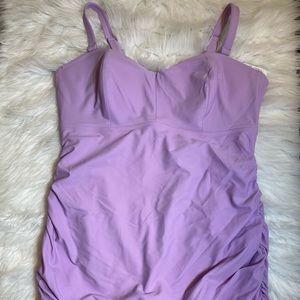 Old Navy 2X NWT One Piece Lilac Swimsuit Swimdress